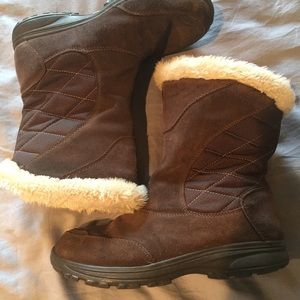 Sz 8 Columbia winter boots- leather